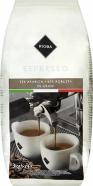 Rioba Espresso Kawa ziarnista prażona 3 kg