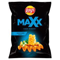 Lay's Maxx Chipsy ziemniaczane o smaku sera i cebulki 210 g
