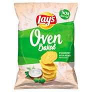 Lay's z Pieca Pieczone chipsy ziemniaczane o smaku jogurtu z ziołami ogrodowymi 200 g