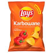 Lay's Chipsy ziemniaczane karbowane o smaku papryki 210 g