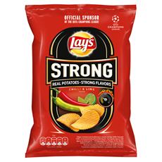 Lay's Strong Chipsy ziemniaczane karbowane o smaku ostrego chilli i limonki 65 g