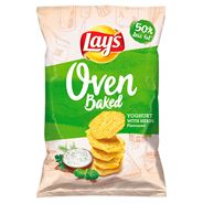 Lay's z Pieca Pieczone chipsy ziemniaczane o smaku jogurtu z ziołami ogrodowymi 125 g