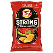 Lay's Strong Chipsy ziemniaczane karbowane o smaku ostrego chilli i limonki 130 g