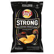 Lay's Strong Chipsy ziemniaczane karbowane o smaku pieprzu syczuańskiego 130 g