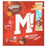 Wawel Michałki Klasyczne Cukierki w czekoladzie 300 g + batonik 30 g