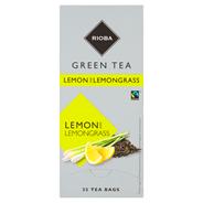 Rioba Herbata z trawy cytrynowej z herbatą zieloną 25 saszetek