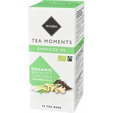 Rioba Bio Herbata zielona z trawą cytrynową i imbirem 25 saszetek