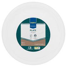 Makro Professional Biodegradowalny talerz okrągły 26 cm 50 sztuk