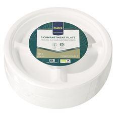 Makro Professional Biodegradowalne talerze 26 cm 50 sztuk