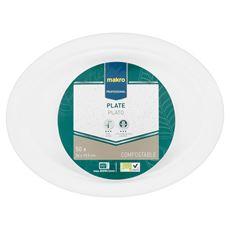 Makro Professional Biodegradowalny talerz owalny 26 x 19,5 cm 50 sztuk