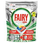 Fairy Platinum Plus Cytryna Kapsułki do zmywarki, 40 kapsułek