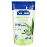 On Line Kremowe mydło w płynie opakowanie uzupełniające aloes i oliwka 500 ml