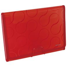 Panta Plast Omega Teczka 6 przegródek czerwona A4