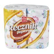 Fine Line Ręcznik papierowy Folk 2-warstwowy 2 rolki
