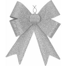 Dekoracyjna kokarda świecąca, kolor srebrny