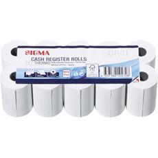Sigma rolka kasowa termiczna bez BPA, 57mm x 20m, 10 szt.