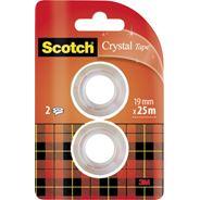 Scotch Crystal Taśma biurowa 19x7,5 mm 2 sztuki