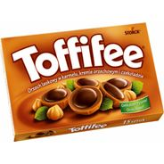 Toffifee Orzech laskowy w karmelu kremie orzechowym i czekoladzie 125 g (15 sztuk) 5 opakowań