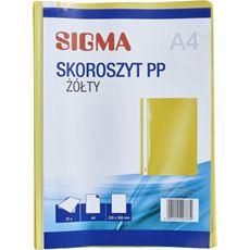 Sigma skoroszyt, żółty, 25 sztuk