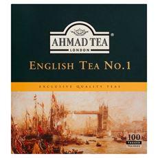 Ahmad Tea English Tea No. 1 Herbata czarna 200 g (100 torebek z zawieszką)