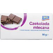 Aro Czekolada mleczno-arachidowa 90 g 12 sztuk