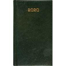Kalendarz książkowy dzienny B6 ZIELONY 2020