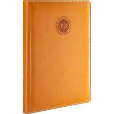 Kalendarz książkowy dzienny A5 2020 brązowy