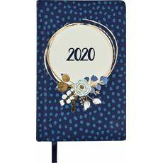 Kalendarz książkowy tygodniowy A6 2020 kwiaty niebieskie