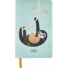 Kalendarz książkowy tygodniowy A6 2020 leniwiec