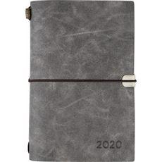Kalendarz książkowy tygodniowy B6 2020 szary
