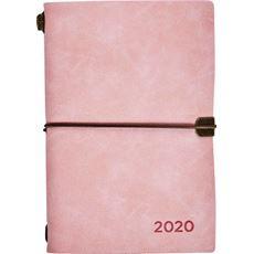 Kalendarz książkowy tygodniowy B6 2020 rożowy