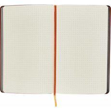 Notes książkowy A5 KROPKI czarno-pomarańczowy