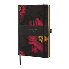 Midnight Floral Notes książkowy tygodniowy A5 linia