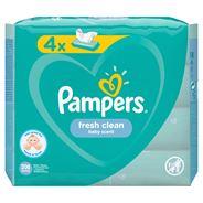 Pampers Fresh Clean Chusteczki nawilżane dla niemowląt 4 opakowania = 208 chusteczek nawilżanych