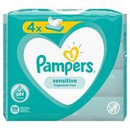Pampers Sensitive Chusteczki nawilżane dla niemowląt 4 opakowania = 208 chusteczek nawilżanych