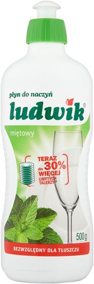 Ludwik Płyn do mycia naczyń miętowy 500 ml