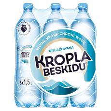 Kropla Beskidu Naturalna woda mineralna niegazowana 6 x 1,5 l