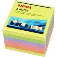 Sigma Z-notes karteczki samoprzylepne mix 7,5x7,5 cm 6 sztuk