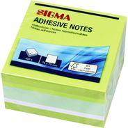 Sigma Bloczek zielony 7,5x7,5 cm 450 kartek