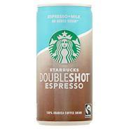 Starbucks Doubleshot Espresso Mleczny napój kawowy bez dodatku cukru 200 ml