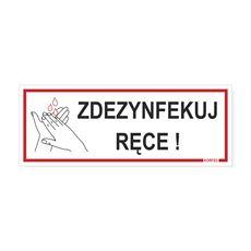 Korfed Tabliczka Zdezynfekuj ręce 21x8 cm