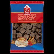 Fine Life Crispy Cubes Ciastka kakaowe z kremem mlecznym 600 g