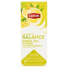 Lipton Herbata zielona aromatyzowana ze skórkami owoców cytrusowych 32,5 g (25 x 1,3 g)