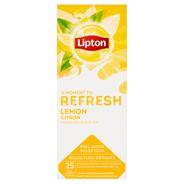 Lipton Herbata czarna aromatyzowana ze skórką cytryny 40 g (25 x 1,6 g)
