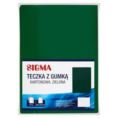 Sigma Teczka z gumką kartonowa zielona 226 x 322 mm 10 sztuk