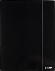 Sigma Teczka z gumką czarna 1 cm A4