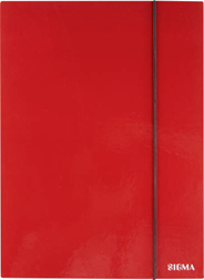 Sigma Teczka z gumką czerwona 1 cm A4