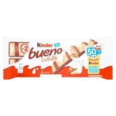 Kinder Bueno White Wafel w białej czekoladzie z mleczno-orzechowym nadzieniem 39 g (2 batony) 30 sztuk