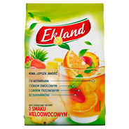 Ekland Napój herbaciany instant o smaku wieloowocowym z witaminą A C E i kwasem foliowym 300 g