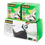 Scotch 810 MAGIC Taśma biurowa matowa 4 sztuki + podajnik gratis